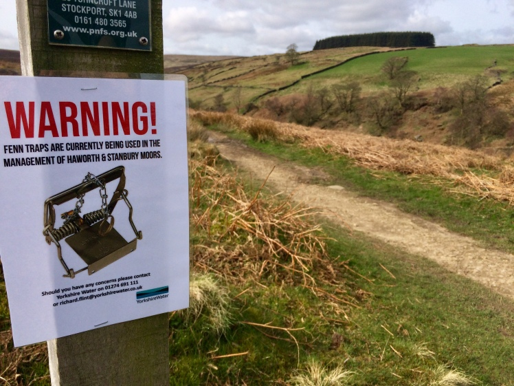 Haworth Moor Trap Sign